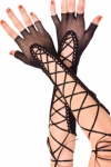 Black-Lace-up-Fishnet-Fingerless-Gloves-LC73118-2