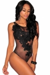 Black-Floral-Embroidered-Sheer-Mesh-Bodysuit-LC3237-2